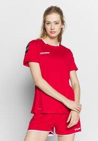 Hummel - HMLAUTHENTIC  - T-shirt print - true red - 0