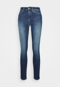 ONLY - ONLBLUSH LIFE - Vaqueros pitillo - dark blue denim - 3