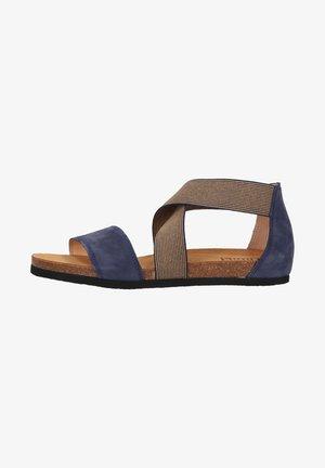 Wedge sandals - indigo kombi