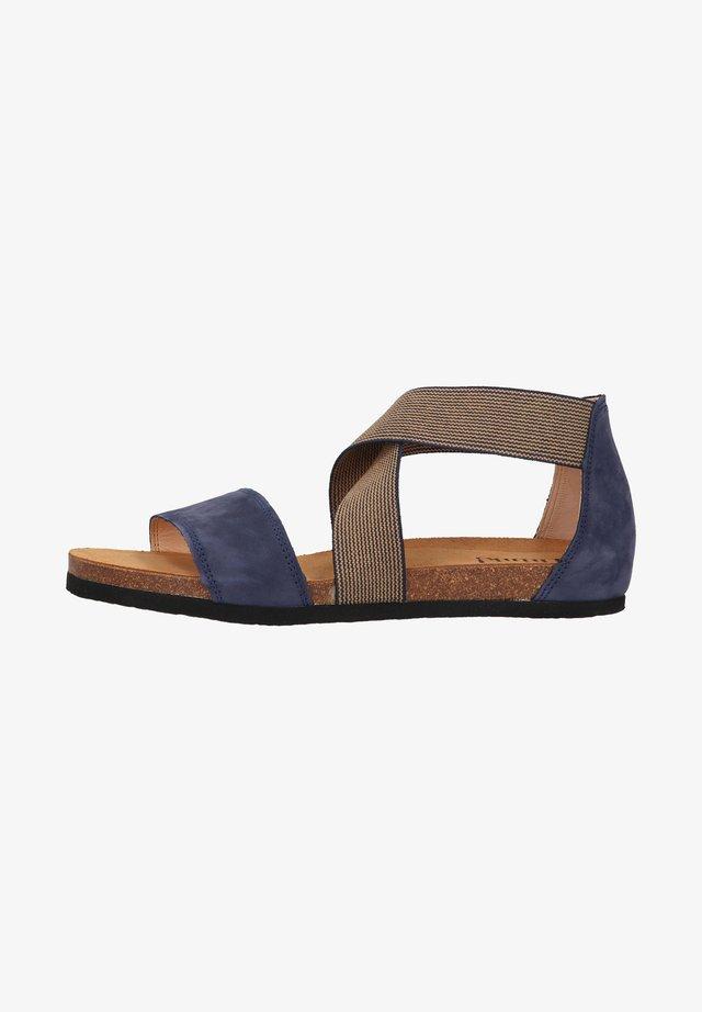Sandales compensées - indigo kombi
