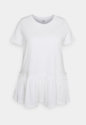 TIERED - T-shirt con stampa - white