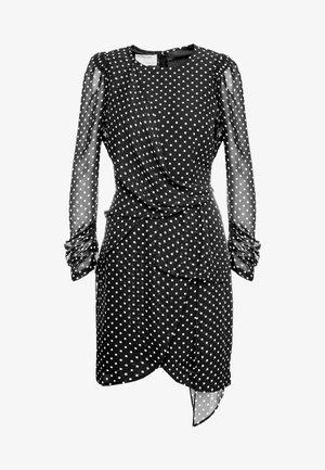 TRUNTE SHORT DRESS - Day dress - black/beige