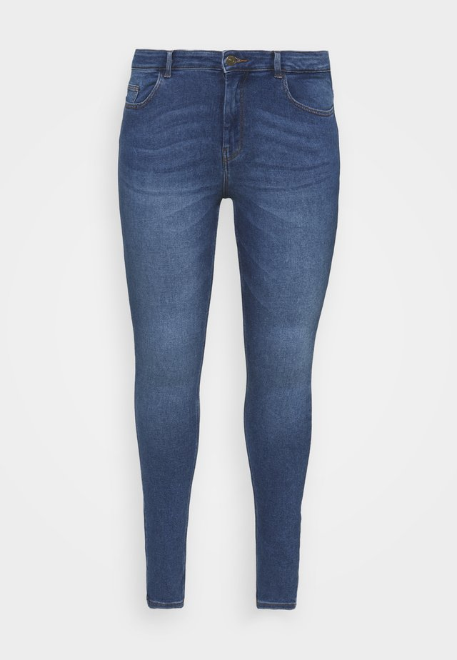 PCMIDFIVE FLEX - Jeans Skinny Fit - medium blue denim