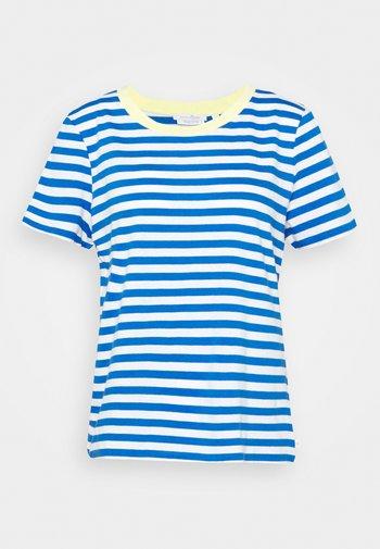 RELAXED STRIPE TEE - Print T-shirt - blue/white