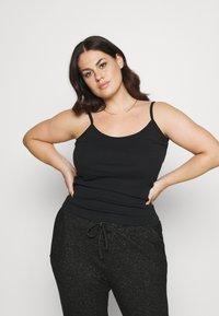 CAPSULE by Simply Be - PACK 3 CAMIS - Top - black/grey/white - 3
