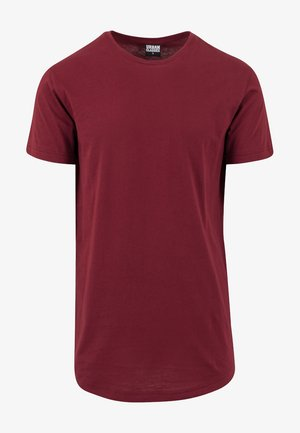 SHAPED LONG TEE DO NOT USE - Basic T-shirt - burgundy