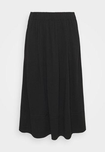 KIA MIDI - A-snit nederdel/ A-formede nederdele - black