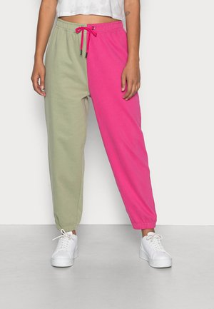FLORIDA SPLIT JOGGER - Pantaloni sportivi - pink-oill green
