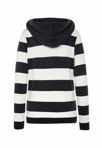 Soccx - ARTWORK - Zip-up sweatshirt - ivory / deep sea - 6