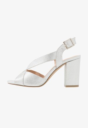 HIBISCUS WIDE FIT - High heeled sandals - silver
