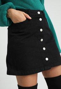 New Look Petite - BUTTON SKIRT - A-line skirt - black - 3