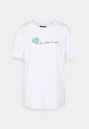 FUTURE TEE - T-shirts med print - white