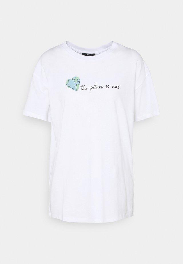 FUTURE TEE - T-shirt med print - white