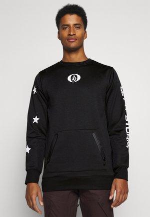 LET IT STORM CREW - Fleece jumper - black
