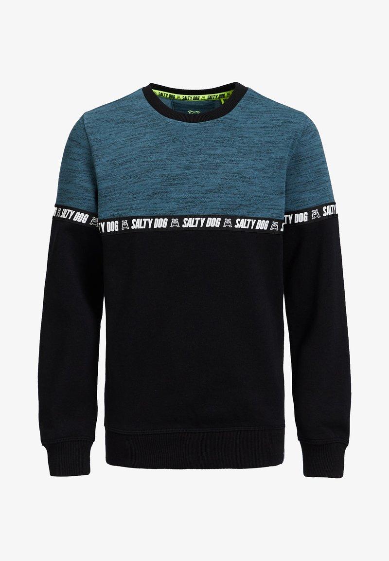 WE Fashion - MET TAPEDETAIL - Sweater - blue