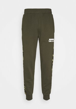 CORE CAMO SWEATPANTS - Tracksuit bottoms - forest night
