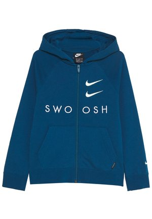 NIKE SPORTSWEAR  FRENCH-TERRY-HOODIE MIT DURCHGEHENDERM REIBVERCHLUSS FUR ALTERE KINDER(JUNGEN) - Zip-up hoodie - blueforce/blue force/barely volt