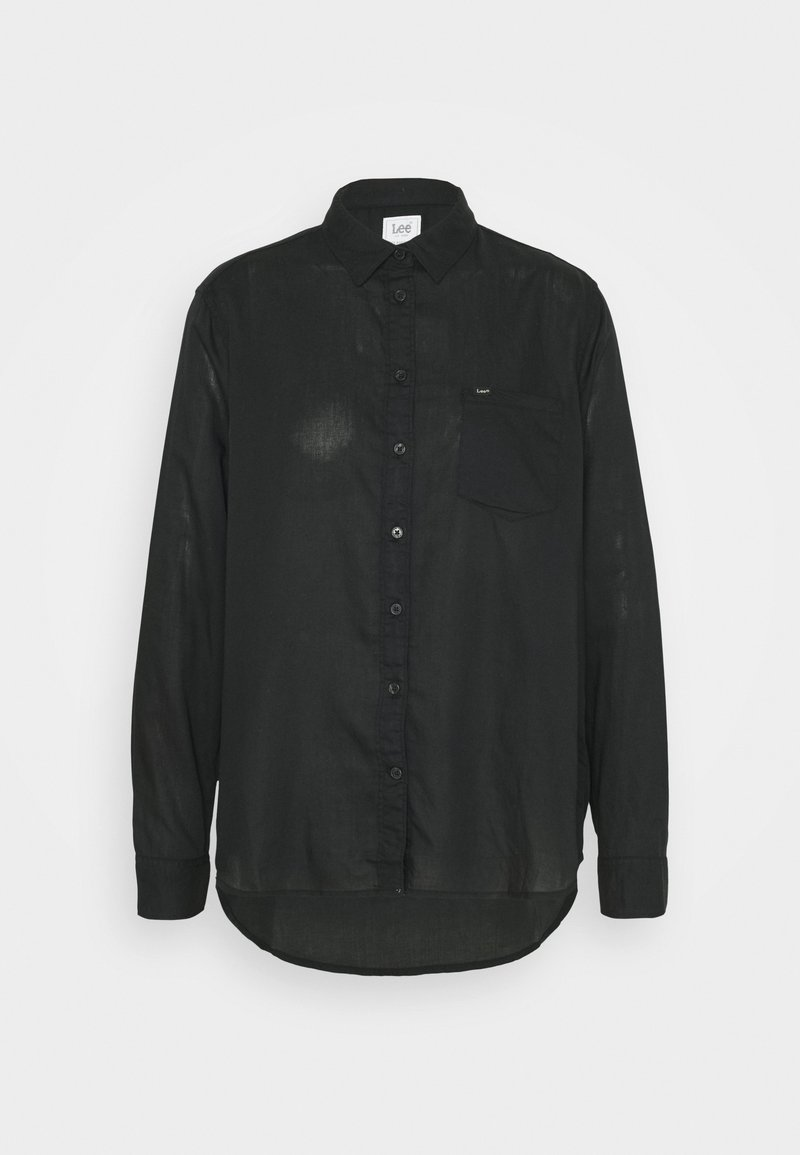 Lee - ONE POCKET - Button-down blouse - black