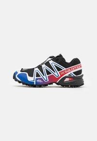 Salomon - SHOES SPEEDCROSS 3 ADV UNISEX - Sneakers basse - black/surf the web/goji berry - 0