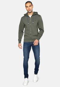 Threadbare - TANGERINE - Zip-up hoodie - dark khaki - 1