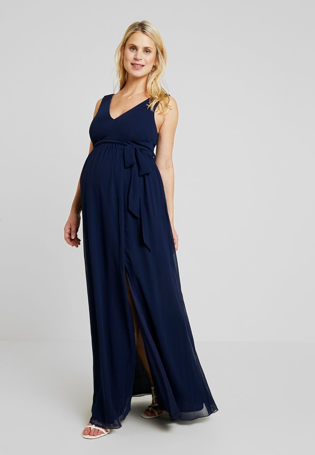 EXCLUSIVE ROSE V NECK DRESS - Robe de cocktail - navy