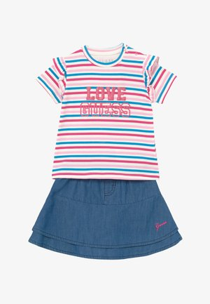 SKIRT BABY SET - A-line skirt - rainbow stripe red