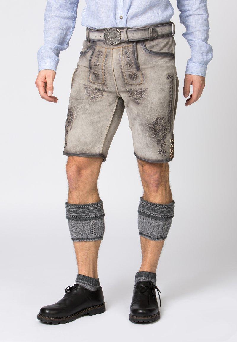 Stockerpoint - Leather trousers - rauch geäscht