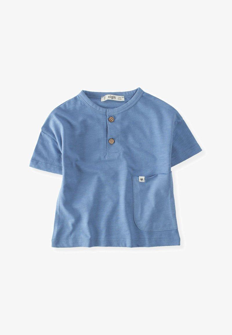 Cigit - POCKET - Print T-shirt - blue