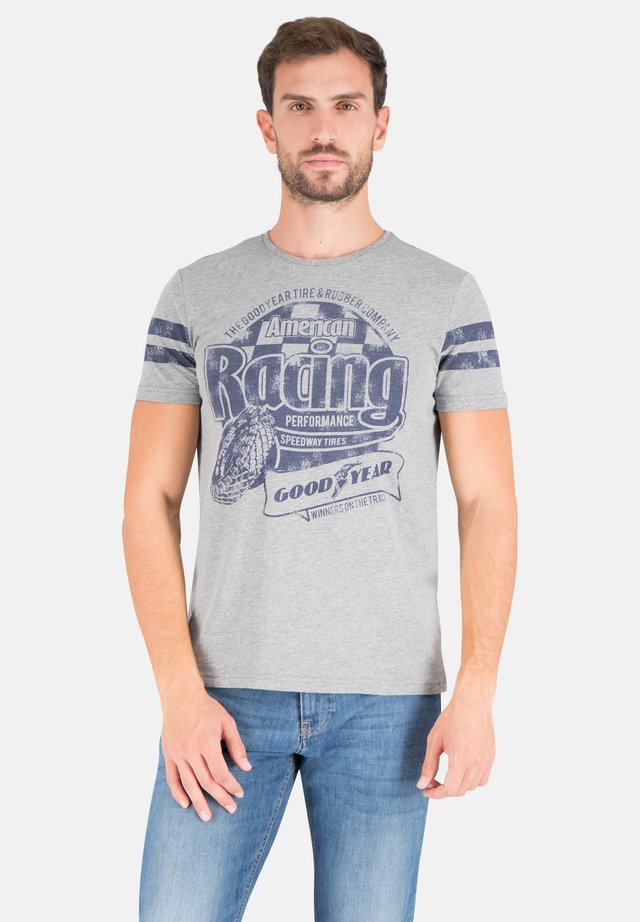 PHOENIX - Print T-shirt - medium grey melange