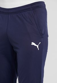 Puma - LIGA TRAINING PANT CORE - Spodnie treningowe - peacoat/white - 4