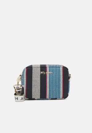 ICONIC CAMERA BAG STRIPES - Bolso de mano - blue