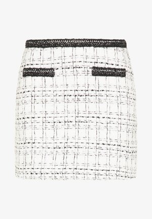 TWEED - A-line skirt - weiß