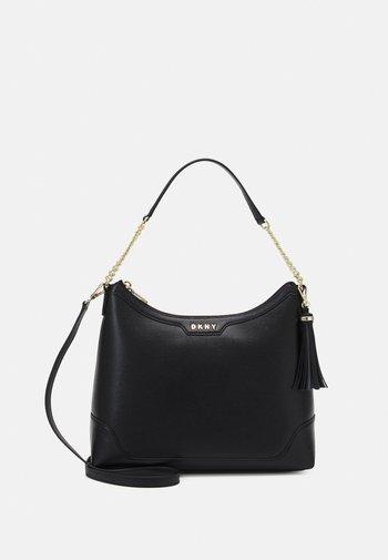 HEIDI TOP HANDLE SATCHEL - Handbag - black/gold