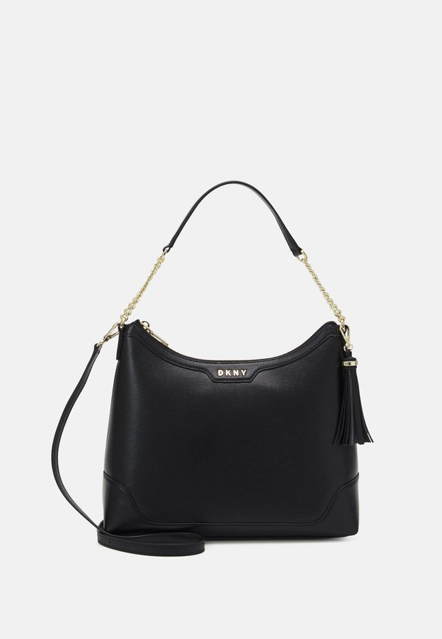 HEIDI TOP HANDLE SATCHEL - Kabelka - black/gold