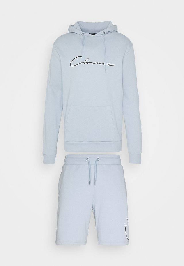 DOUBLE SCRIPT HOODY SHORT SET - Sweat à capuche - blue