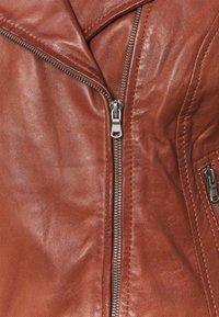 Freaky Nation - BALI - Leather jacket - brandy - 2