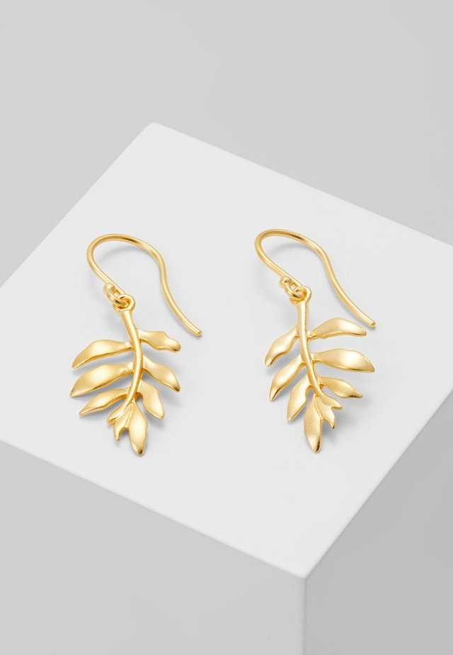 LITTLE TREE OF LIFE EARRING - Pendientes - gold-coloured