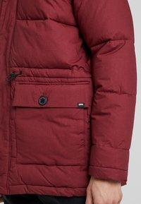 Edwin - Winter coat - ruby wine - 5