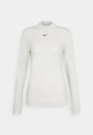 TEE MOCK SLIM - Top s dlouhým rukávem - light bone