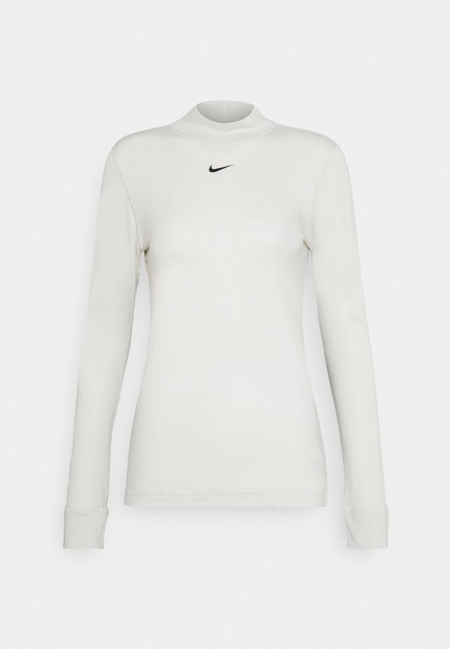 TEE MOCK SLIM - Long sleeved top - light bone