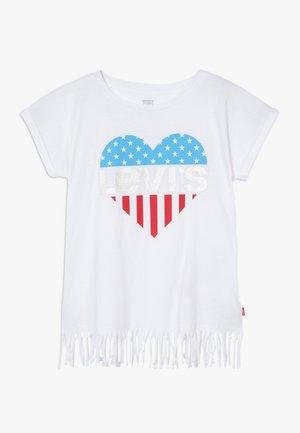 FRINGE - Camiseta estampada - white