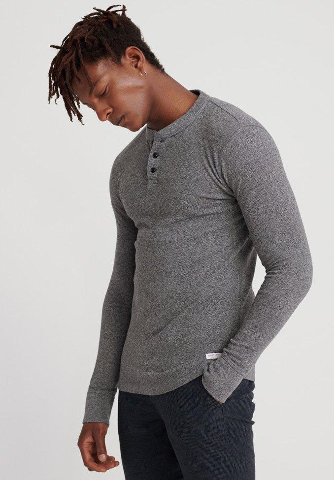 Men Long sleeved top - grey