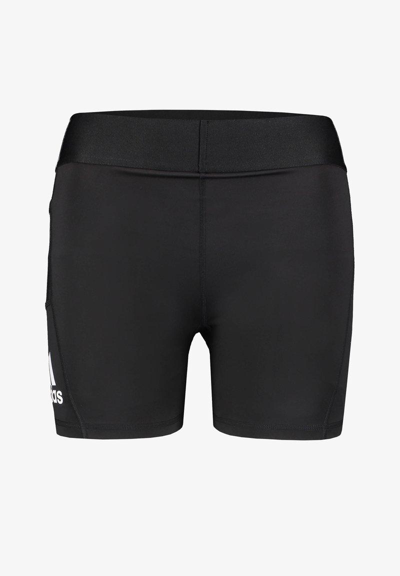 adidas Performance - ALPHASKIN - Pantalón corto de deporte - black