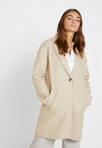 Topshop - JANE CHUCK ON - Classic coat - oat - 0