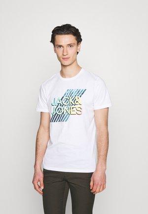JJSPRING FEELING TEE CREW NECK - T-shirt med print - white
