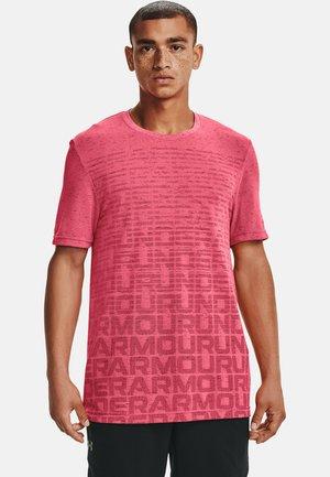 Print T-shirt - pink shock