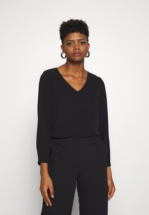 ONLVIC SOLID V NECK - Blouse - black