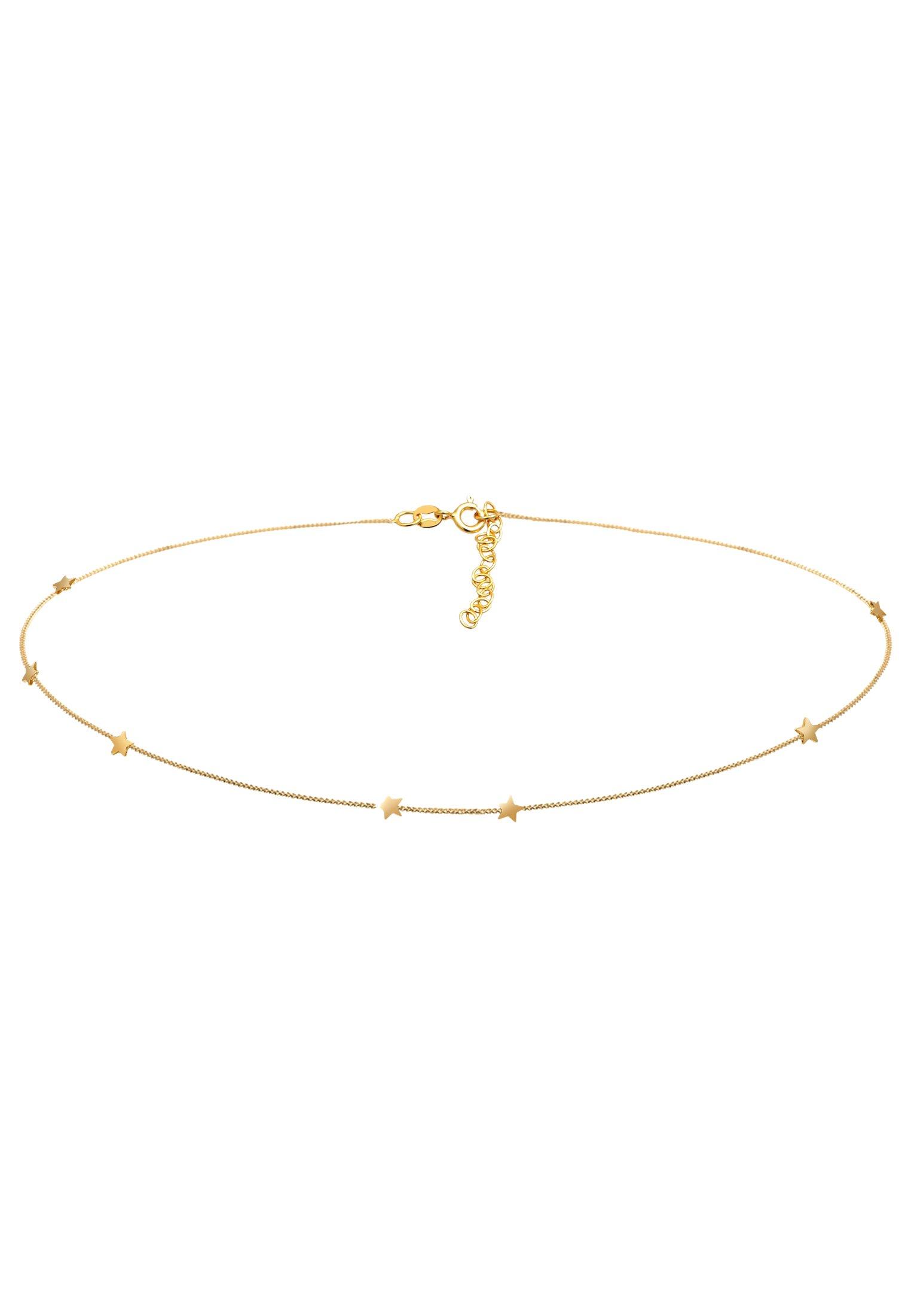 Elli Choker Stern Astro Look - Halskette Silber