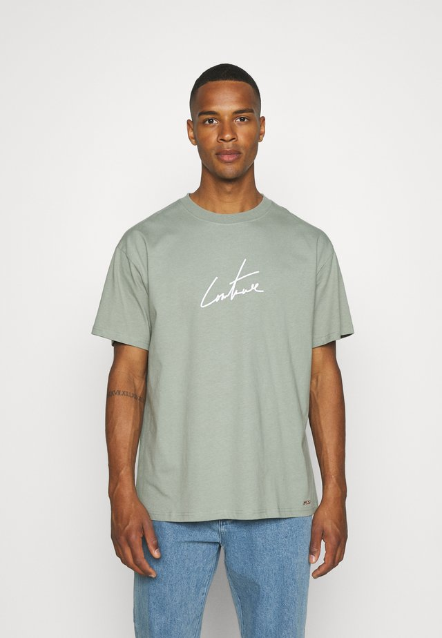 RELAXED FIT REFLECTIVE - T-shirt con stampa - khaki