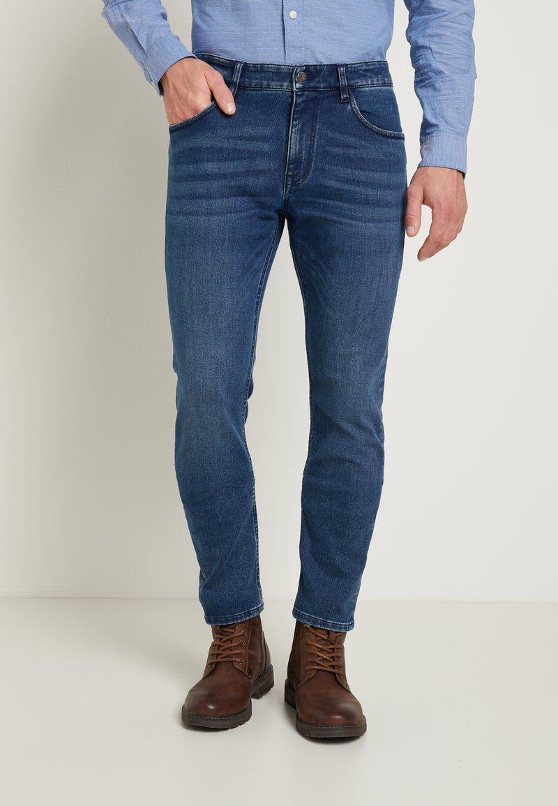 TOM TAILOR - JOSH - Straight leg -farkut - mid stone blue
